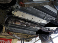 Защита топливных трубок, алюминий (V-2.0;2.4;3.0) АВС-Дизайн 14.18ABC Mitsubishi Outlander (3G) рест. 2014-