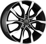 Диск колесный MAK Koln 9,5xR21 5x112 ET56 ЦО66,6 черный глянцевый с полированной лицевой частью F9521HIBM56WS5X