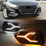 Дневные ходовые огни, светодиодные LED для Hyundai Solaris 2017 -