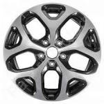 Диск колесный OE Kaptur ST 6,5xR17 5x114,3 ET50 ЦО66,1 чёрный глянцевый с полированной лицевой частью 66383