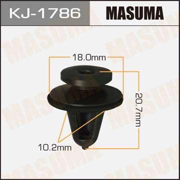 Клипса автомобильная (автокрепеж), уп. 50 шт. Masuma KJ-1786