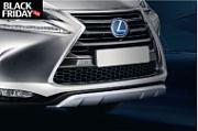 Накладка на передний бампер, серебристая Lexus PZ402-X095000 для Lexus NX 2015 г.в по н.в.