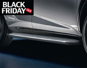 Пороги LEXUS серебристо - черные PZQ4442100 для Lexus NX 2015 г.в по н.в.