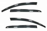 Дефлекторы на окна с хромированным молдингом COBRA для Ford Explorer (2010 - 2015)