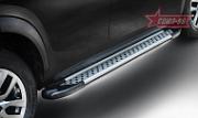 """Пороги """"Союз-96"""" с листом d42 (труба) для Ford Edge (2013 - 2015)"""