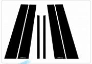 Молдинг центральных стоек Mirror - KIA The SUV Sportage (RACETECH) для KIA Sportage IV 2016 -