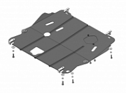 "Защита картера и кпп ""Мотодор"", стальная для Nissan X-Trail T32 2014 -"