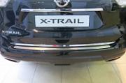 Накладка на задний бампер  RIVAL без логотипа для Nissan X-Trail T32 2014 -