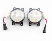 Противотуманные диодные  фары REFIT LED для Mitsubishi Outlander 2012 - 2018