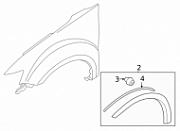 Накладка, расширитель арки крыла переднего правого SAILING