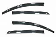 Дефлекторы боковых окон с хромированным молдингом Cobra для Citroen C4 Седан 2013 - 2016