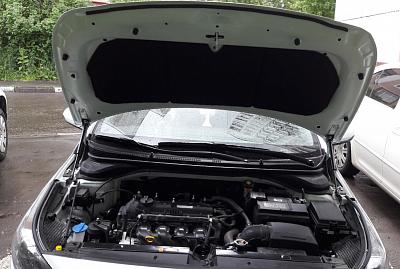 Утеплитель  - шумоизоляция капота 2 в 1 STP для Hyundai Solaris 2017 -