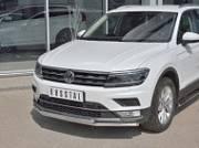 Передняя защита 42/42мм (КРОМЕ OFF ROAD) VGZ-002712 для Volkswagen Tiguan 2017-