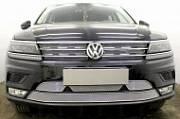 Решетка радиатора PREMIUM (верх,черная)WVTIG16.PREMIUM.top.black для Volkswagen Tiguan 2017-