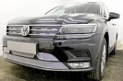 Решетка радиатора PREMIUM (низ, черная) WVTIG16.PREMIUM.bot.black для Volkswagen Tiguan 2017-