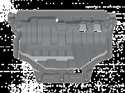 26.3334: Защита картера (алюминий 4мм)26.3334 для Volkswagen Tiguan 2017- Металлопродукция