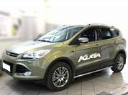 Пороги (окантовка штатного порога) d-53 Технотек FK2013_3  для Ford Kuga 2017-