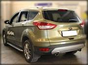 Пороги с листом d-53 Технотек FK2013_2 для Ford Kuga 2017-
