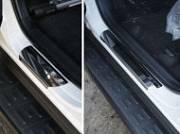 Накладки на пороги (лист зеркальный) ТСС TOYRAV15-02 для Toyota RAV4 2015-