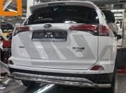 Защита заднего бампера одинарная d 60 мм, нерж. CAN Otomotiv TOR4.55.3573  для Toyota RAV4 2015-