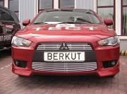 Накладка на решетку бампера d10 Berkut-Auto ML10.R12 Mitsubishi Lancer 2007-