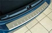 Накладка на задний бампер с загибом, зеркальная Alu-Frost 40-3986 для Honda CR V 2017-