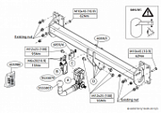 Фаркоп (быстросъемный крюк) BRINK 605900 для Volvo XC90 2015-
