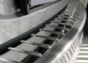 Накладка на задний бампер с силиконом, нерж. сталь, 2 шт.(4D/5D) Alu-Frost 10-2120  для Mazda 6 2007-2012-