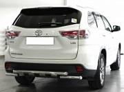 Защита заднего бампера d-60 с накладками Технотек HYG 2014_3.5  Toyota Highlander 2014 -