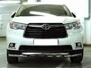 Защита передняя трубообразная d-60 с доп.накладками Технотек HYG 2014_1.2 Toyota Highlander 2014 -