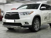 Защита передняя трубообразная низкая двойная d-60+53 Технотек HYG 2014_1.1 Toyota Highlander 2014 -
