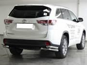 """Защита заднего бампера """"уголки"""" d-60+53 Технотек HYG 2014_3.4 Toyota Highlander 2014 -"""