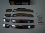 Накладки на дверные ручки, нерж., 4 двери (Deco - узкая модель) Omsa Line для VW TOUAREG (2010-2018)
