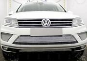 Защита радиатора Premium, хром, боковая часть (2 части) Allest для VW TOUAREG (2014-2018)