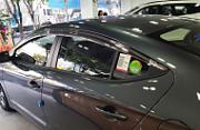 Дефлекторы на окна хромированные для Hyundai Elantra 2016 -