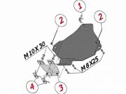 ALF2603st: Защита редуктора заднего моста, V-3,6 (Сталь 1,8 мм) ALFeco для VW Touareg (2010-2018) Alfeco