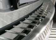 Накладка на задний бампер с силиконом Alu-Frost 10-2168 для LEXUS RX (2015 - по н.в)