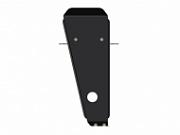 Защита редуктора стальная 2.5 мм SHERIFF для Geely Atlas 2018 -