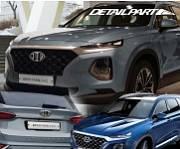 Комплект эмблем Brenthon BEH-H80 для Санта Фе 4 (Hyundai Santa Fe 2018 - 2019)