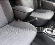 Подлокотник (черный, кожа) Опора России 0028 для Renault Duster 2011 -