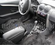 Подлокотник (черный, кожа) Опора России 0031 для Renault Sandero 2009 - 2014
