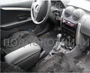 Подлокотник (черный, кожа) Опора России 0032 для Renault Sandero 2015 -
