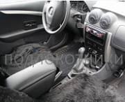 Подлокотник (черный, кожа) Опора России 0030 для Renault Logan 2015 -