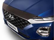 Дефлектор капота (темный, прозрачный) EGR для Санта Фе 4 (Hyundai Santa Fe 2018 - 2019)