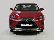 Защита передняя нижняя 60,3 мм ТСС LEXNX17-20 для Lexus NX 2018 -