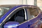 Дефлекторы боковых окон с хром-полосой Nissan KE8004E010 для Nissan Qashqai 2019 -