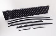 Дефлекторы окон с хром молдингом 6 элементов для KIA Optima