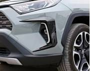 Накладки на ПТФ и ДХО (черные) GPPOWER для Toyota RAV4 (Тойота РАВ4) 2019 -