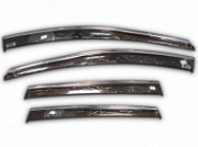 Дефлекторы окон с нержавеющим молдингом Alvi-Style ALV421M Skoda Karoq 2020 (Шкода Карок)
