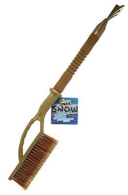 Щетка-скребок для уборки снега и льда, 67 см, с мягкой ручкой Golden Snail GS 7005
